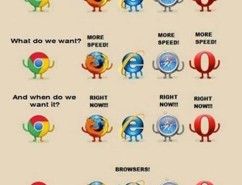 Treffen sich fünf Browser…