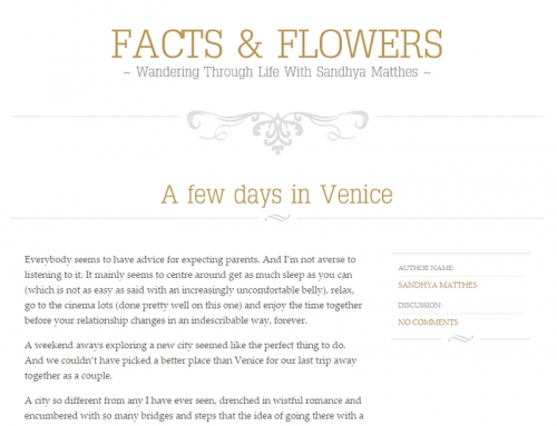 Webseite: FactsandFlowers.com
