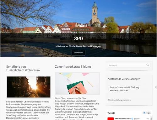 Webseite: SPD Nürtingen